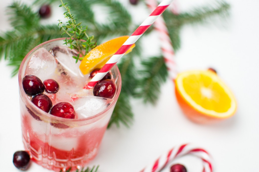 Cranberry Orange Gin Fizz http://vollgut-gutvoll.de/2015/12/24/cranberry-orange-gin-fizz/