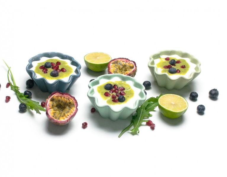 Limetten Joghurt mit Rucola Birnen Topping http://wp.me/p6GO5w-E6