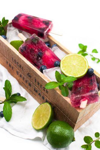 Blaubeer Mojito Popsicles http://wp.me/p6GO5w-Gv
