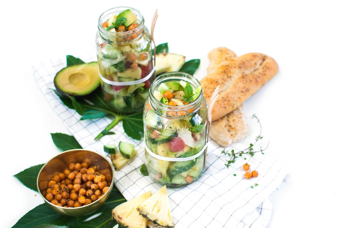 Ananas Gurken Salat http://wp.me/p6GO5w-JF