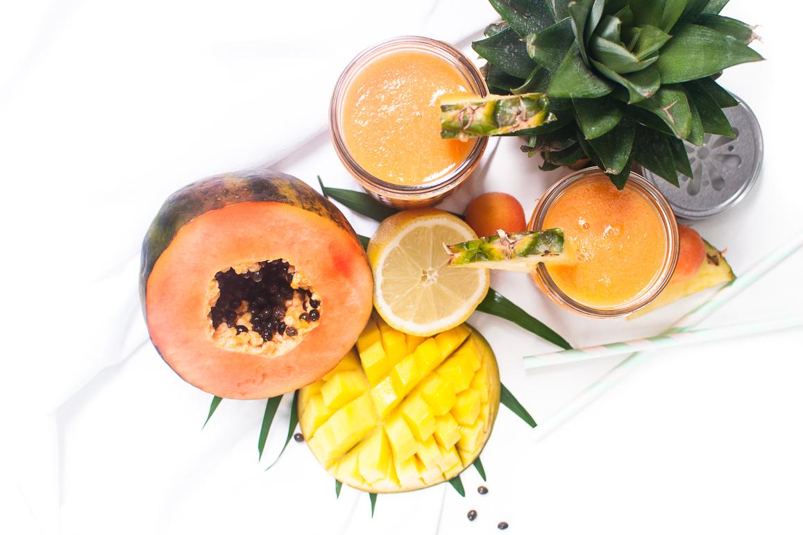 Papaya Ananas Saft http://wp.me/p6GO5w-K4