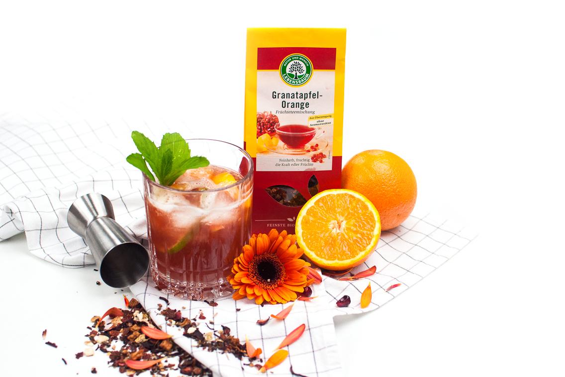 Granatapfel Orangen Tee Cocktail http://wp.me/p6GO5w-Kj