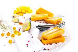Mango Popsicles mit rotem Pfeffer http://wp.me/p6GO5w-MI
