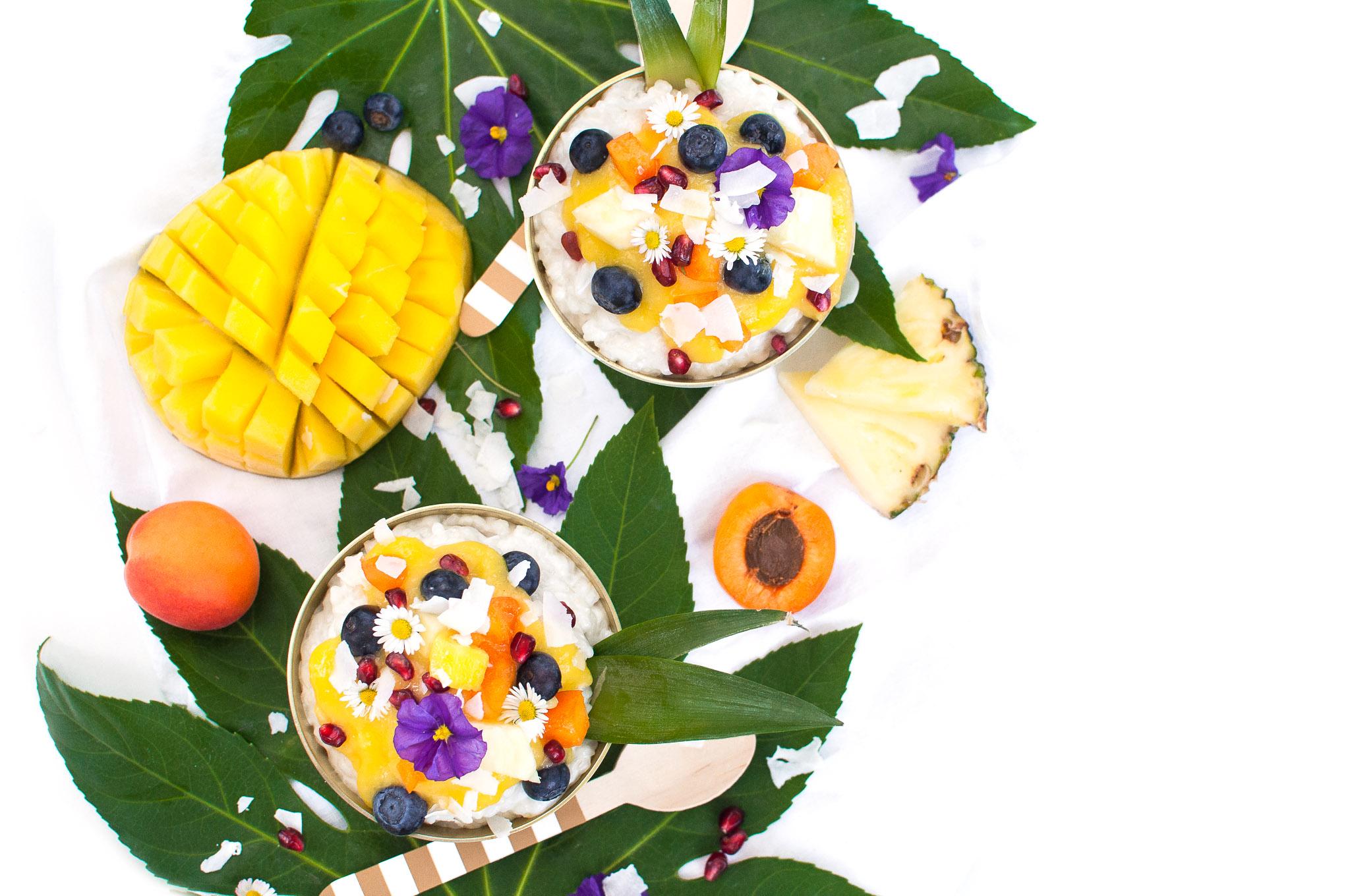 Kokosmilchreis mit Mangopüree http://wp.me/p6GO5w-OY