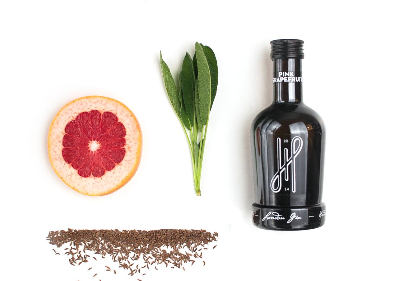 Grapefruit-Salbei Gin mit Kümmel http://wp.me/p6GO5w-12S