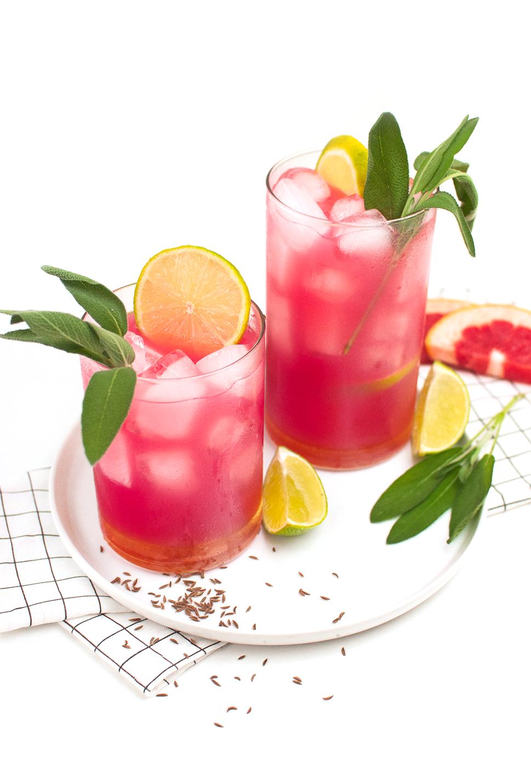 Grapefruit-Salbei Gin mit Kümmel
