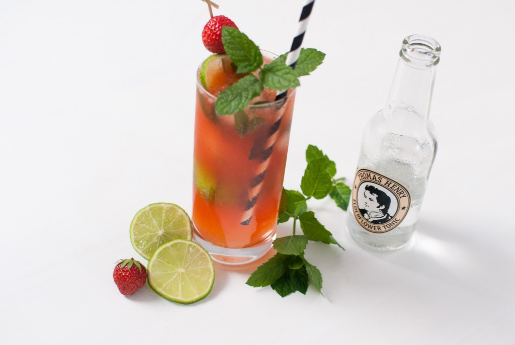 Strawberry Elderflower Mojito